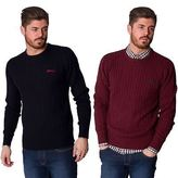 Slazenger New Mens Chunky Knitted Crewneck Long Sleeve Pullover Jumper Sweater