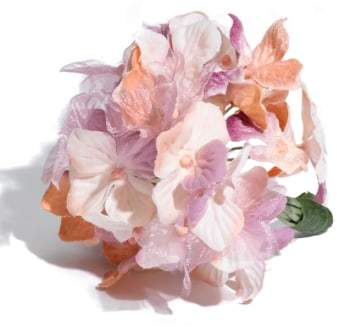 Us Angels Girl's Faux Hydrangea Corsage