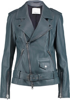 3.1 Phillip Lim Belted leather biker jacket