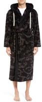 Majestic International Men's 'Black Out' Camo Fleece Robe