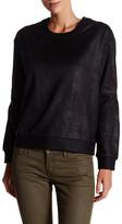 The Kooples Faux Leather Sweatshirt