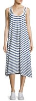 The Great The Swing Tank Striped Midi Dress, Blue/White