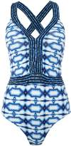 Michael Kors Summer breeze cross-back swimsuit