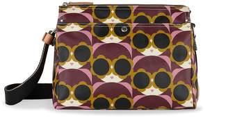 Orla Kiely Fielder Crossbody Bag, Morello
