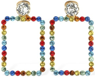 Ca&Lou Cassandra Square Crystal Earrings