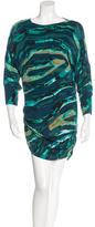 Kelly Wearstler Silk Watercolor Print Dress