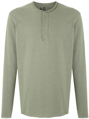 OSKLEN raw-edge long-sleeved T-shirt