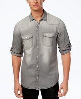 INC International Concepts Men's Dual-Pocket Snap-Front Denim Shirt, Created for Macy's
