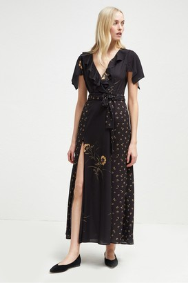 French Connection Mahi Crepe Belted Maxi Dress