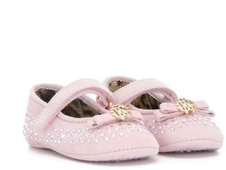 Roberto Cavalli Junior Crystal Embellished Pre-Walker Shoes