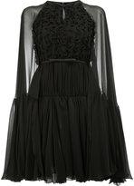 Giambattista Valli sheer sleeves dress - women - Silk/Cotton/Polyamide/Viscose - 42