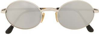 Chanel Pre Owned CC plaque round sunglasses