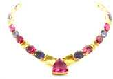 Tresor Collection - Multicolor Tourmaline Necklace in 18k Yellow Gold