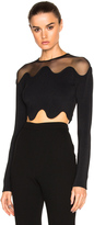 David Koma Shoulder Net Crop Top