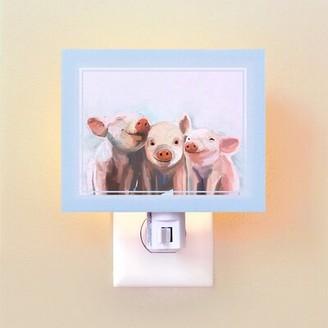 Oopsy Daisy Fine Art For Kids Three Little Piggies by Cathy Walters Night Light