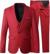 Benibos Men's Slim Fit Suit Blazer Jacket Tux Vest Pants 3 Pieces Suit Set (XL, )