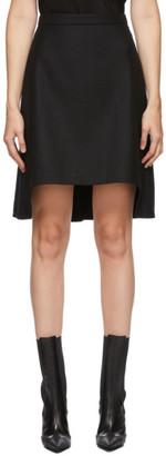 Alexander McQueen Black Wool Tail Miniskirt