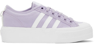 adidas Purple Nizza Platform Sneakers