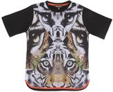 Roberto Cavalli Tiger Printed Cotton Jersey T-Shirt
