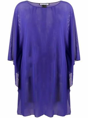Fisico Cristina Ferrari Purple Sheer Tunic Top