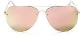 Quay Muse Mirrored Aviator Sunglasses, 62mm