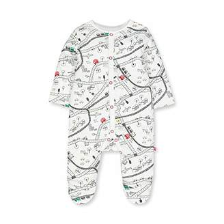 Mothercare Baby IO B Little City Wadded WIS Bodysuit,(Size:98)