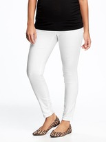 Old Navy Maternity Full-Panel Stay-White Rockstar Jeans