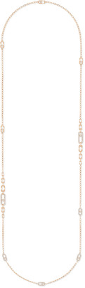 Messika Move Uno 18k Pink Gold Long Diamond Necklace, 90cm