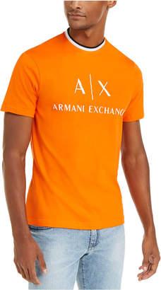 Armani Exchange Men Neon Glo Hyperbright Logo T-Shirt