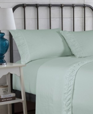 Hudson & Main Hudson Main Clover Ruched Ultrasilk Queen Sheet Set Bedding