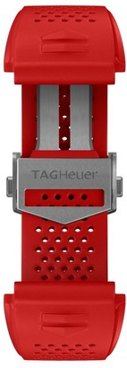 Tag Heuer Modular Connected Red Rubber Watch Band