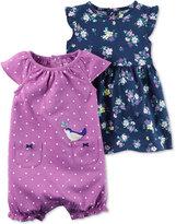 Carter's 2-Pc. Floral-Print Dress & Dot-Print Romper Set, Baby Girls (0-24 months)