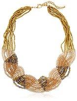 Leslie Danzis Iridescent Beaded Collar Necklace