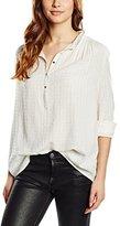 Gat Rimon Women's Normal Waist Short Sleeve Blouse - Off-White -