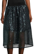 Necessary Objects Sequined A-Line Skirt