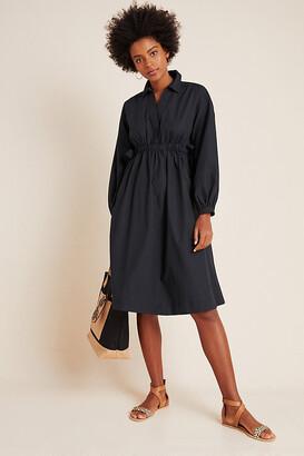 Maeve Nikita Poplin Shirtdress By in Black Size S P
