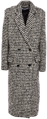IRO Huaraz Double-breasted Houndstooth Wool-blend Boucle Coat