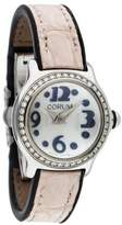 Corum Bubble Mini Diamond Watch W/ Alligator Strap
