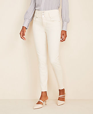 Ann Taylor Sculpting Pocket High Rise Skinny Jeans