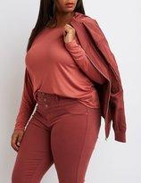 Charlotte Russe Plus Size Drop Shoulder Top