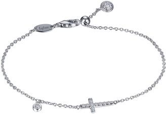 Lafonn Sideways Cross Simulated Diamond Bracelet