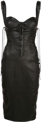 Kiki de Montparnasse corset effect midi dress