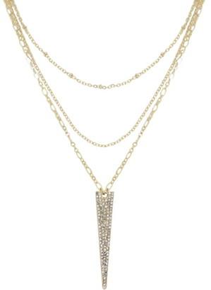Ettika Layered Spike Pendant Necklace
