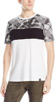 Southpole Men's Cut and Sewn Tee with All Over Polka Dotted Camo Patterns On Top