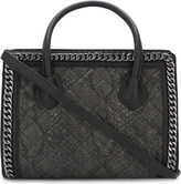 Aldo Treichel snake-embossed quilted tote