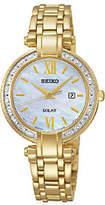 Seiko Women's Goldtone Crystal-Accented Bracele