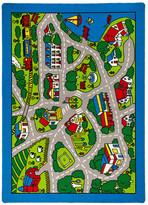AllStar Rugs Street Map Green/Blue Area Rug Rug