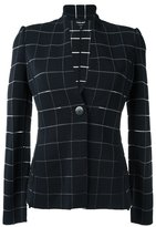 Giorgio Armani check woven jacket