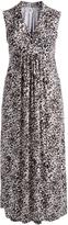 Glam Black & White Abstract Surplice Dress - Plus