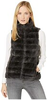 True Grit Dylan By Dylan by Faux-Fur Love Vest with Matching Lining (Vintage Black) Women's Clothing